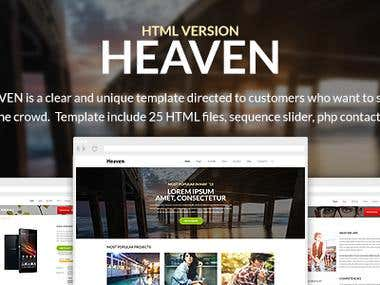 Heaven - Multi Purpose Site Template