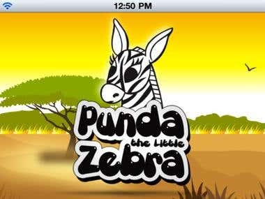 Punda The Little Zebra | iPhone & iPad App.