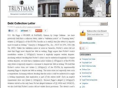 WordPress Blog Designing -trustman.org/blog/