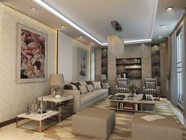 Interior design of villa in Saudi arabia/Riyadh