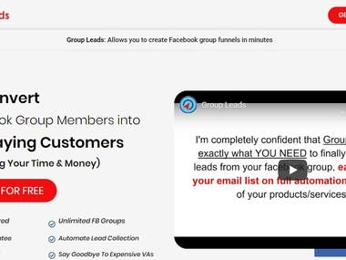Group Leads: Allows you to create Facebook group funnels in