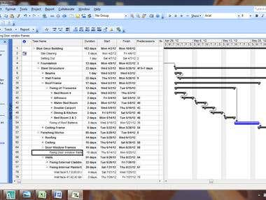 Project scheduling/Planing with MS Office Project