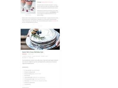 Food Bloging Website
