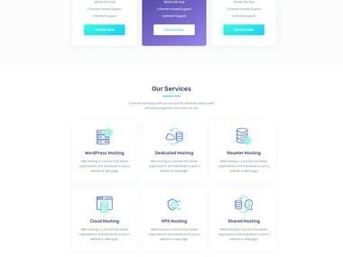 Web Hosting provider website