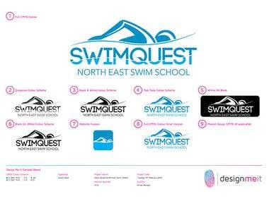 SwimQuest Logo Design