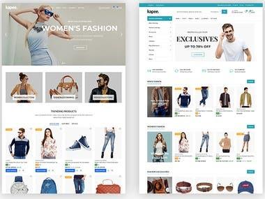 Woo commerce fashion store