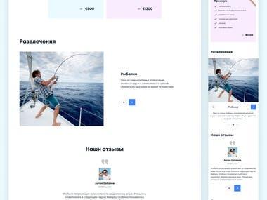 Design Landing Page for Yaht&Wine
