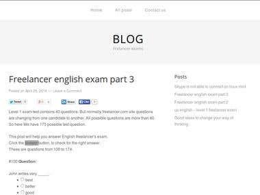 Freelancer exam blog freelancer-blog.serveblog.net