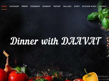 Dinner with Daawat