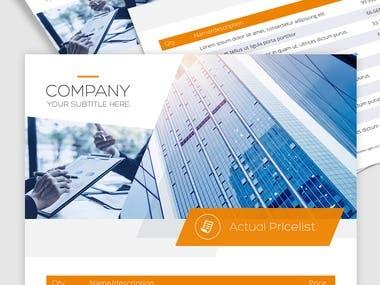 Corporate pricelist