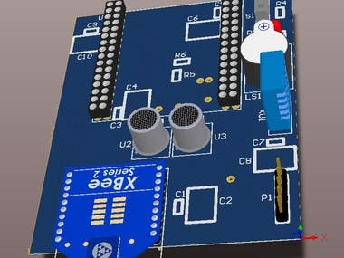 Sensors and microcontroller PCB