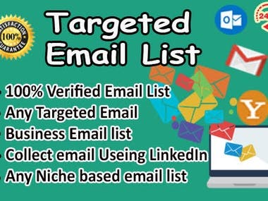 collect targeted email list for marketing within 24 hours
