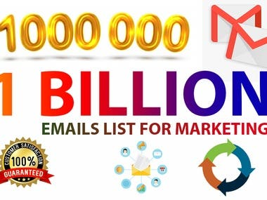 provide 1000 million email list for your any email marketing