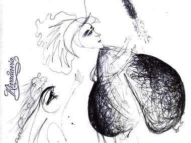Dibujos realizados en birome (tinta).