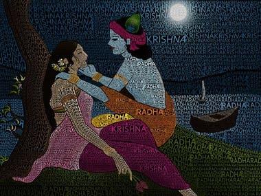 Krishna Typography ( In Photoshop )