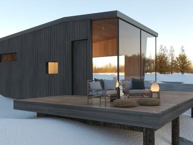 Antarctica Cabin - Design & Renders by Arch. Ness