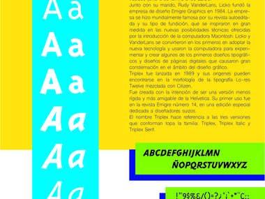Typography Poster: Triplex