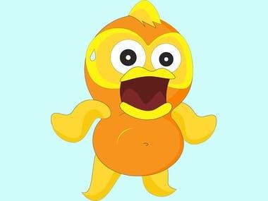 Fish cartoon character