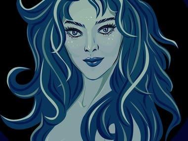 Moonlight in blue
