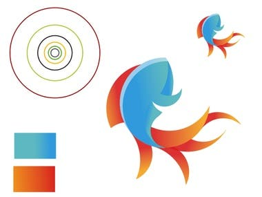 Fish Logo with Golden Ratio