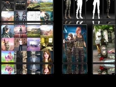 Web Site & Mobile App & Game Character Design