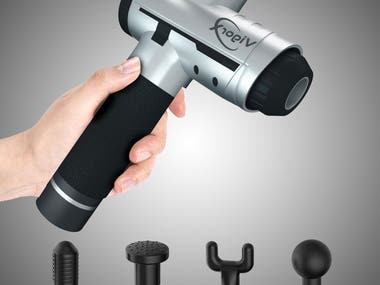3D Product Visualization with Infographics - Massage Gun