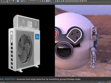 3D Modeling, Animation, Rendering.