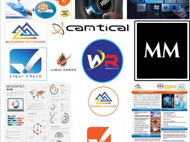 Abstract, banner, Social media ad & Logo.