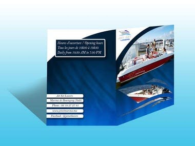 Design an A5 flyer for boat rental services (winning Entry)