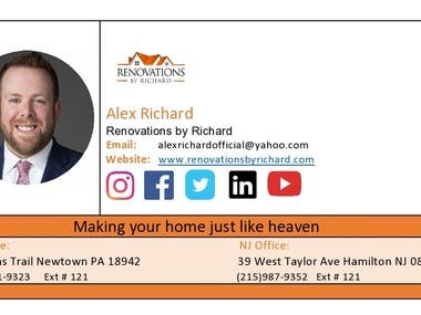Business card design/ Clickable Email Signature