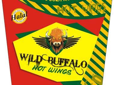 Buffalo Wings Box Design