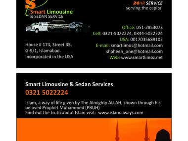 Smart Limousine Business Card Design