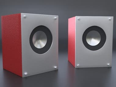 3D Product Visualization - Mini Speakers