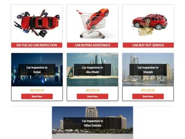 Brand new website for car check UAE with Shopping cart