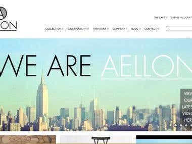Aellon.com magento site customization