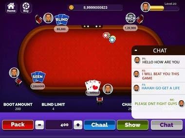 Poker game work