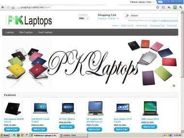 PKLaptops Online Store