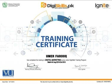 Certificate Training in Digital Marketing