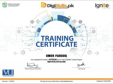 Certificate Training in AutoCAD