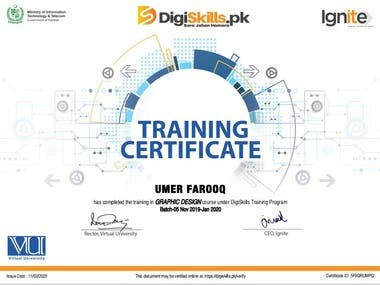 Certificate Training in GRAPHIC DESIGN
