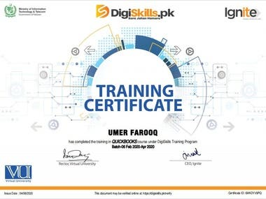 Certificate Training in QuickBook