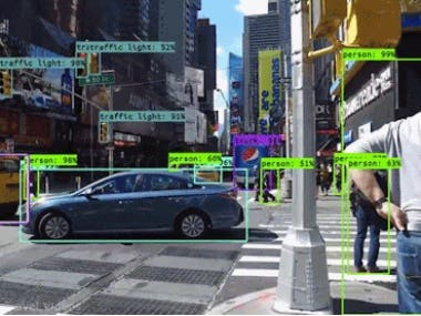 Multiple object recognition and tracking.