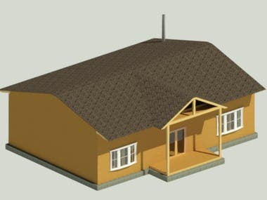 wooden house structural design and modelling