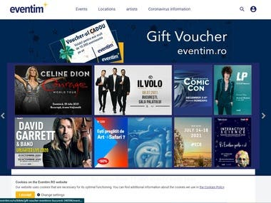 booking web site for hotel and cinema.