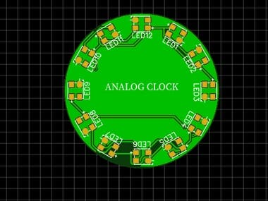 WS2812 based analog clock