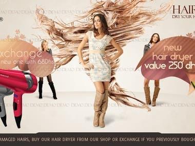 Angels Hairs Spa Banner design
