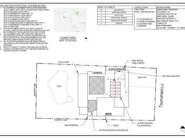 Residential Solar Site Plan Example