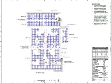 Commercial Solar Site Plan Example