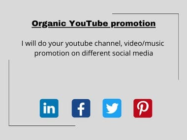 I will promote youtube content for you