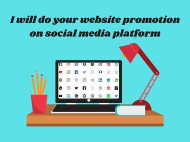 I will use social media for website promotion